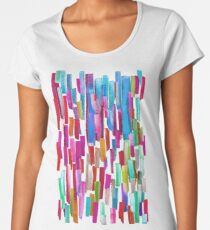 Multicolored watercolor stripes pattern Women's Premium T-Shirt