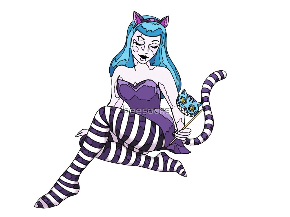 Cheshire Cat pinup girl by beesocks