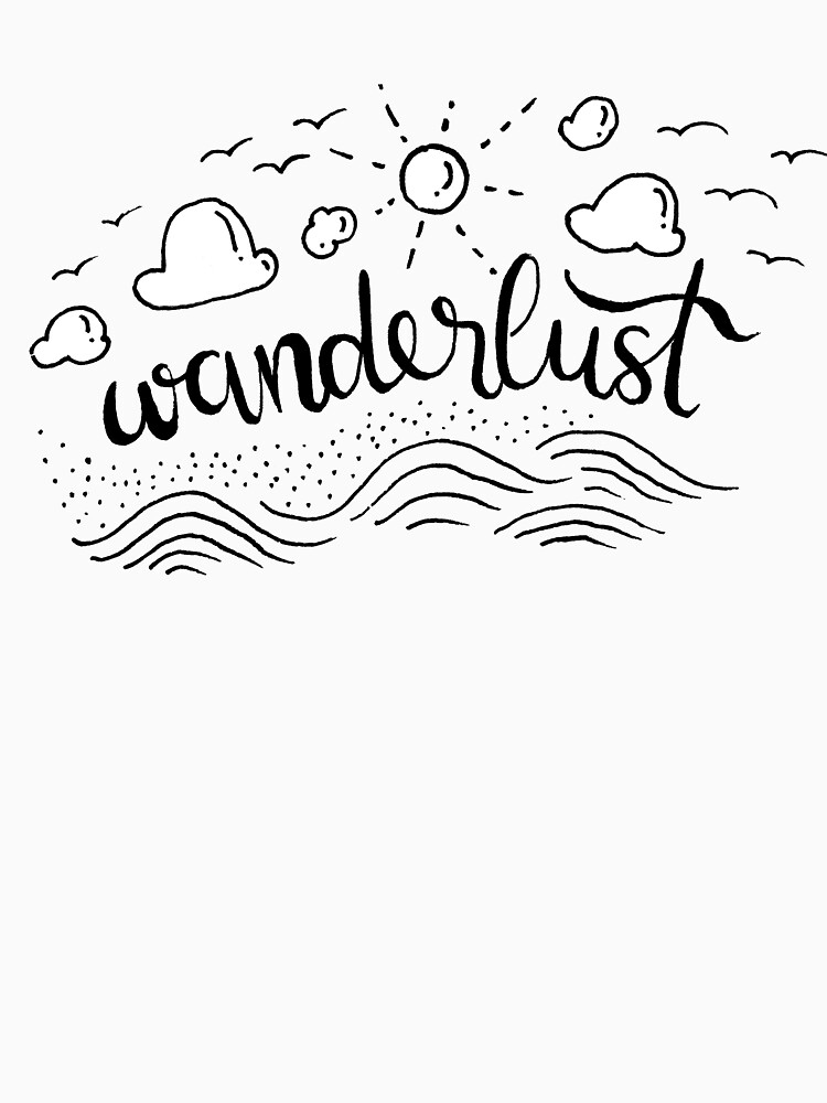 Wanderlust - Black and White illustration by mirunasfia