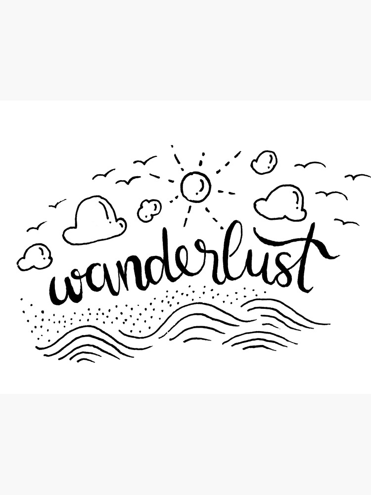 Wanderlust - Black and White illustration by mirunasfia