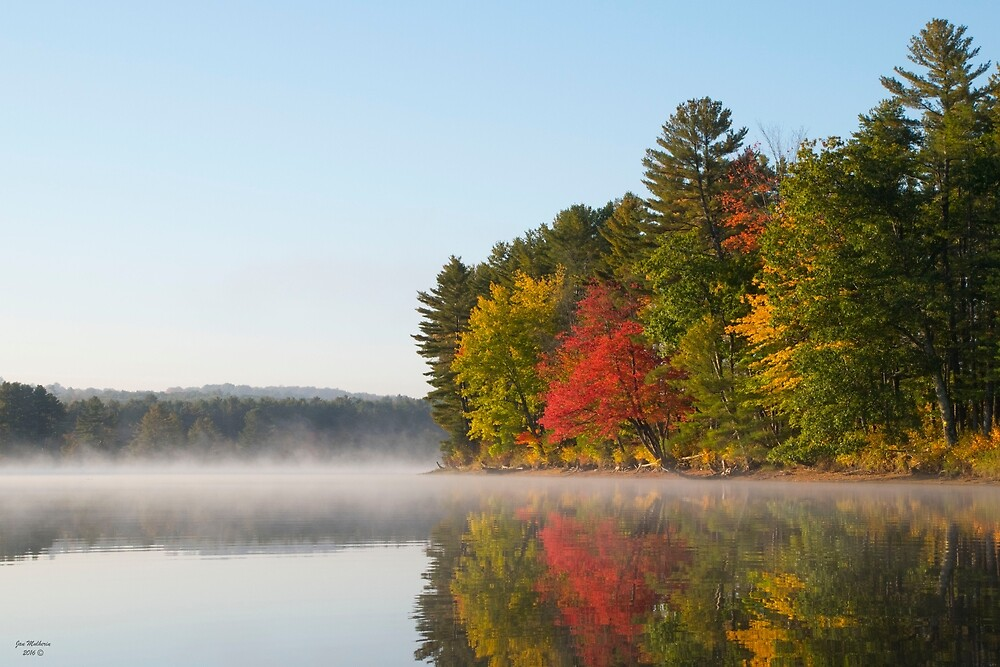 Fall on the Androscoggin River by Jan Mulherin