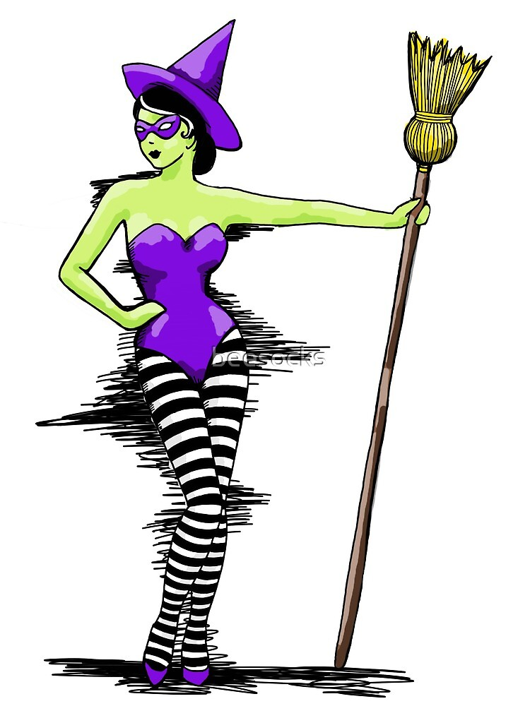 Wicked witch pinup girl  by beesocks