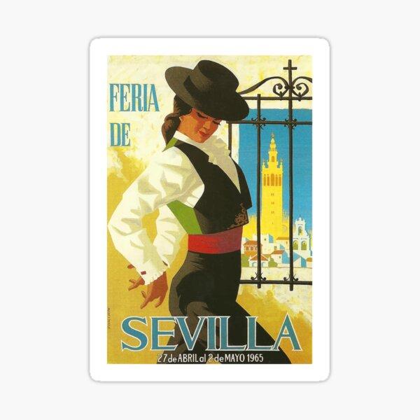 Spain 1965 Seville April Fair Poster Sticker