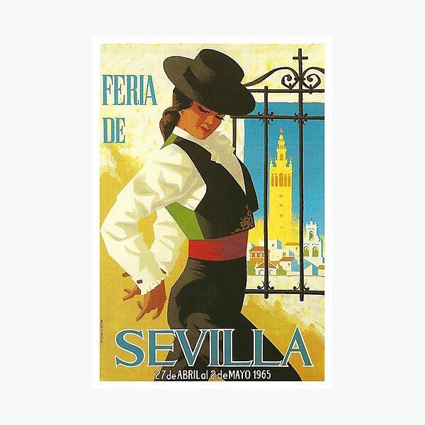Spain 1965 Seville April Fair Poster Photographic Print