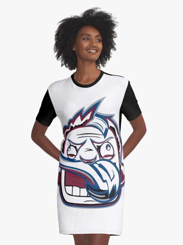 Colorado Rabid Team Logo Graphic T-Shirt Dress Front