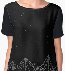 Night Court Mountains - Black (OLD VERSION) Chiffon Top