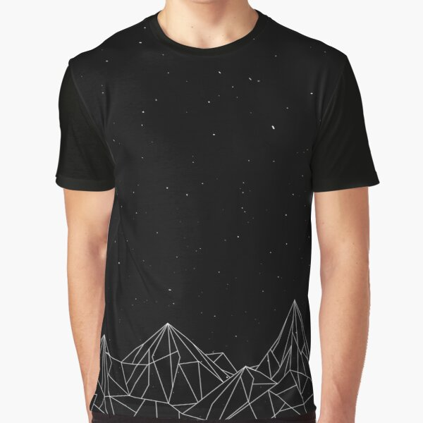 Night Court Mountains - Black (OLD VERSION) Graphic T-Shirt