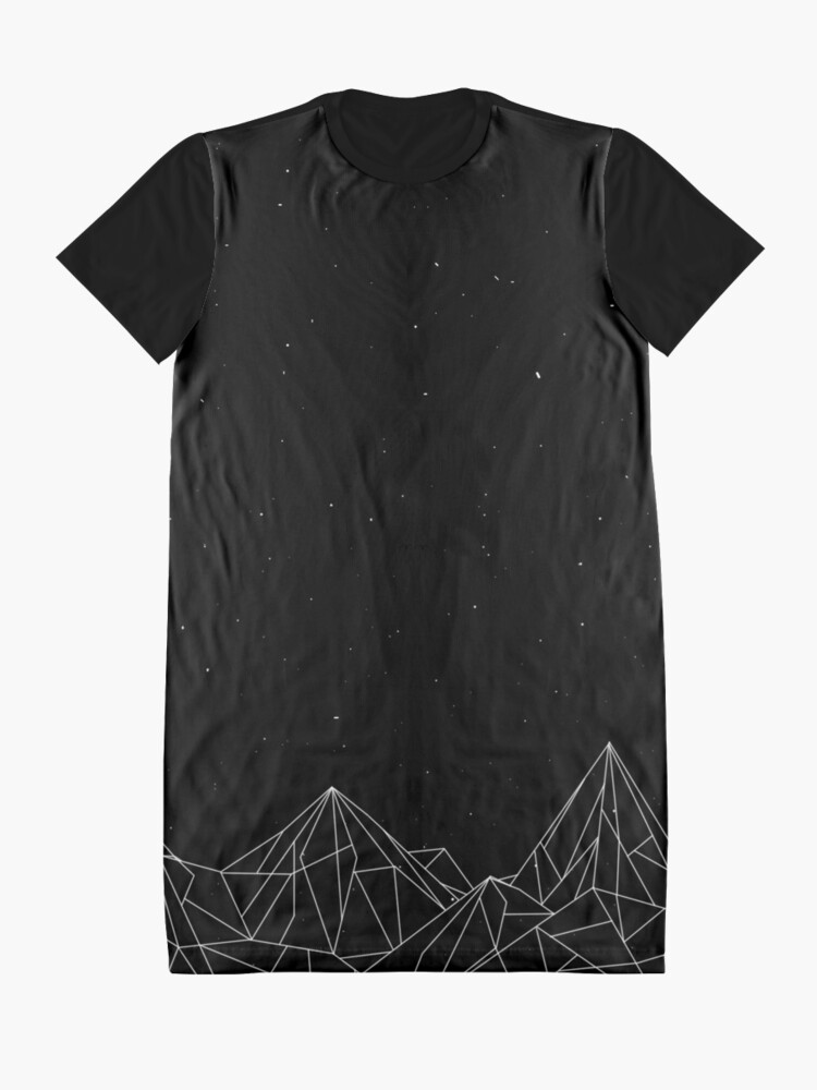 Alternate view of Night Court Mountains - Black (OLD VERSION) Graphic T-Shirt Dress