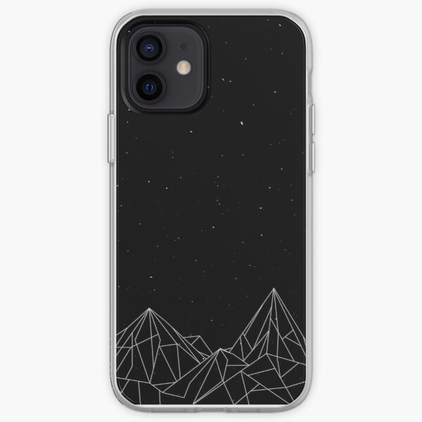 Night Court Mountains - Black (OLD VERSION) iPhone Soft Case