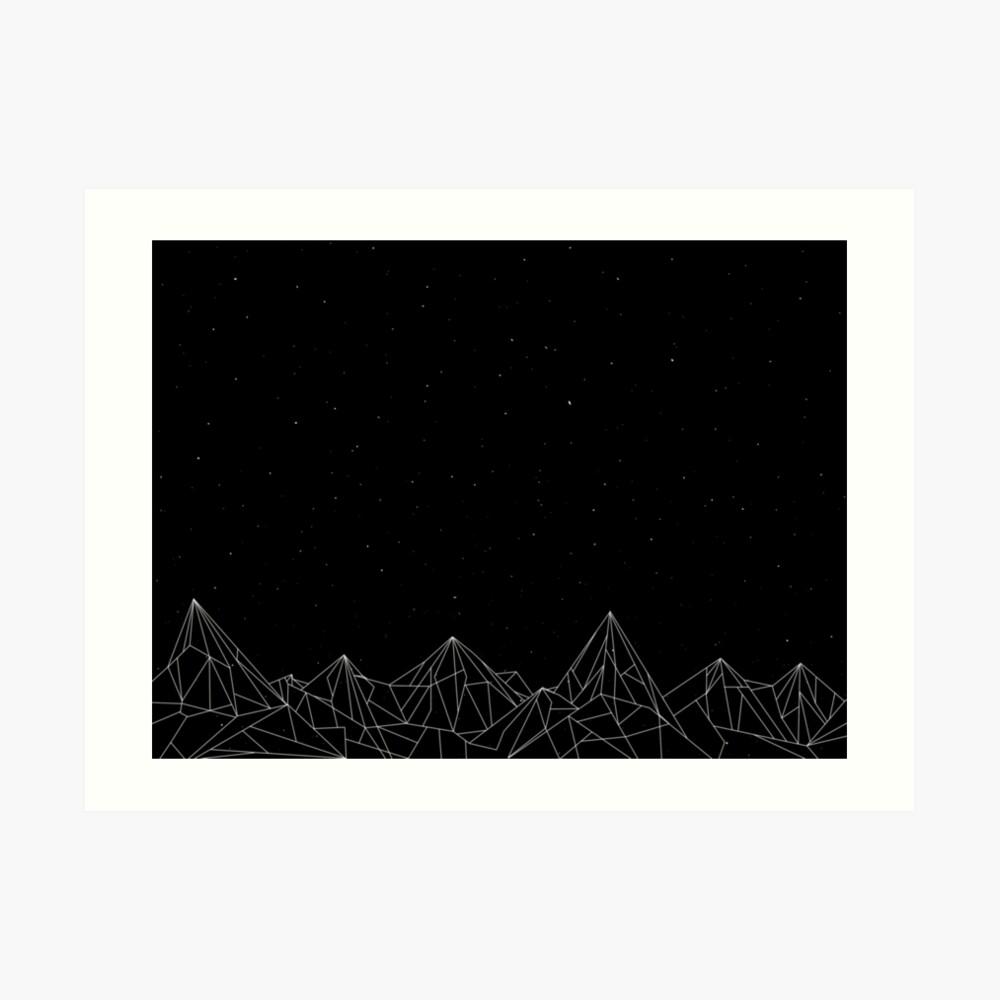 Night Court Mountains - Black (OLD VERSION) Art Print