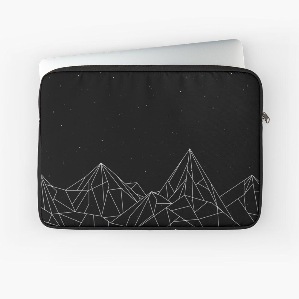 Night Court Mountains - Schwarz (ALTE VERSION) Laptoptasche