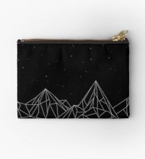 Night Court Mountains - Black (OLD VERSION) Zipper Pouch