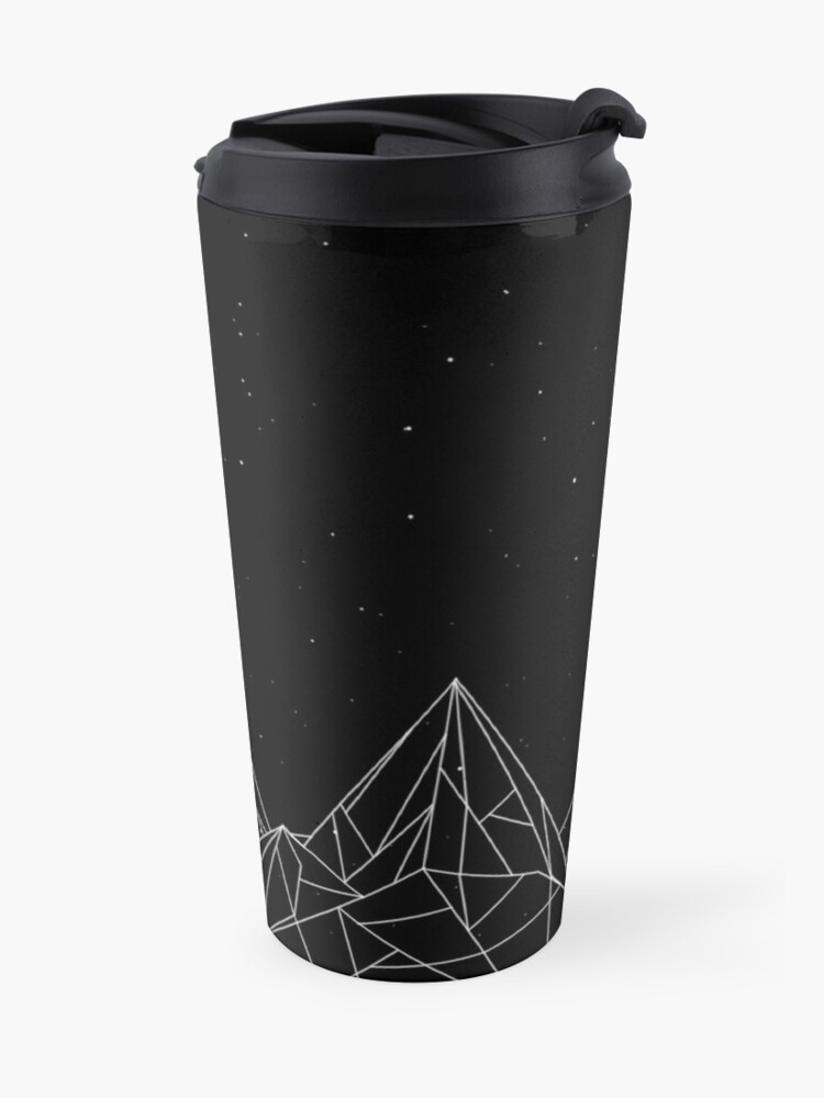 Alternate view of Night Court Mountains - Black (OLD VERSION) Travel Mug