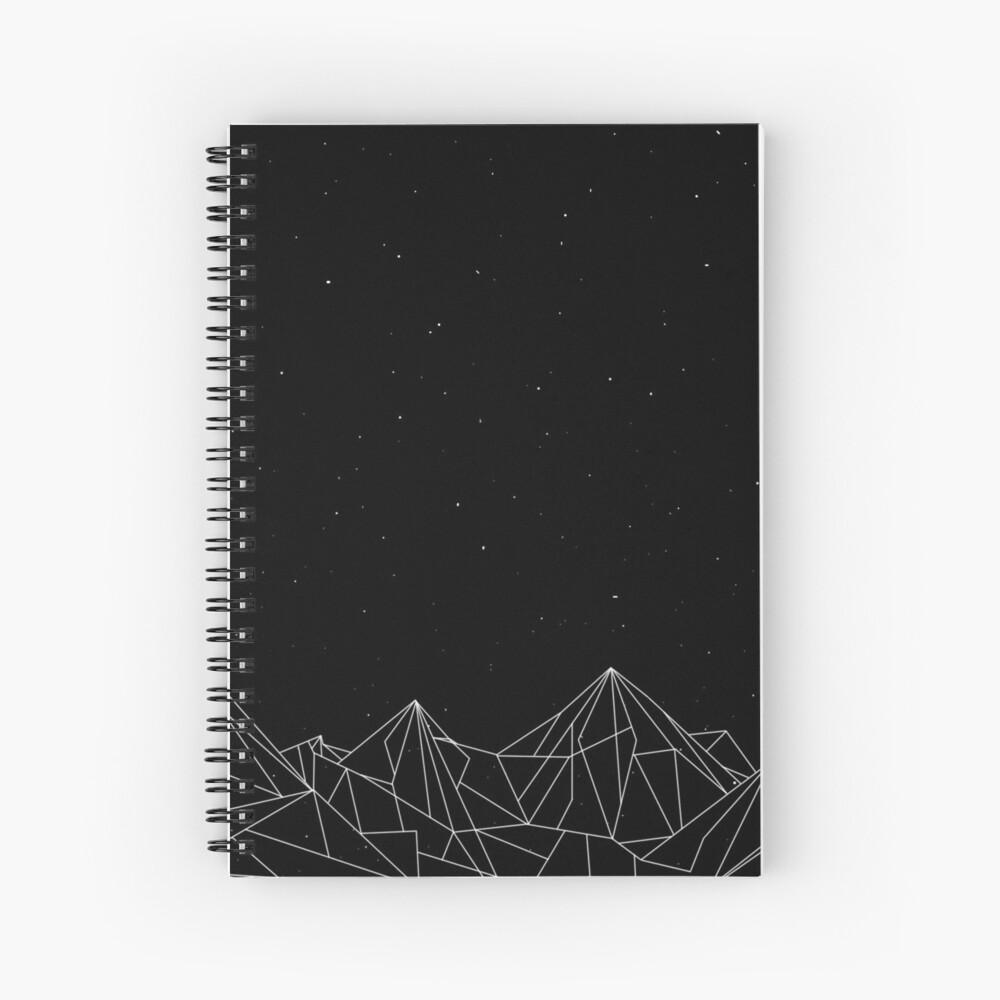 Night Court Mountains - Schwarz (ALTE VERSION) Spiralblock