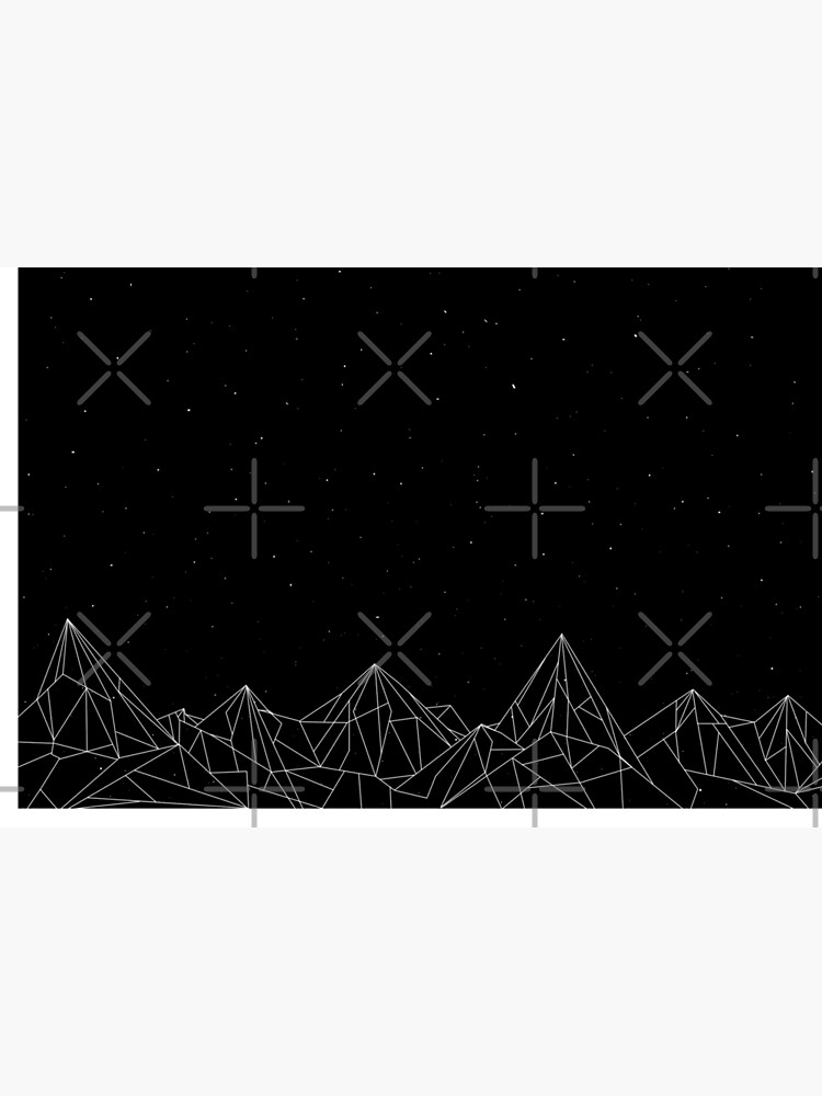 Night Court Mountains - Black (OLD VERSION) by floeing