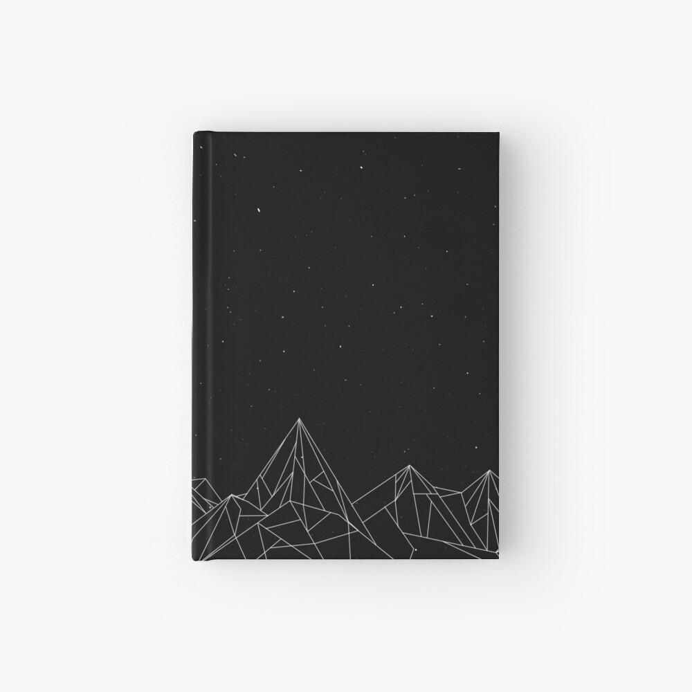Night Court Mountains - Schwarz (ALTE VERSION) Notizbuch