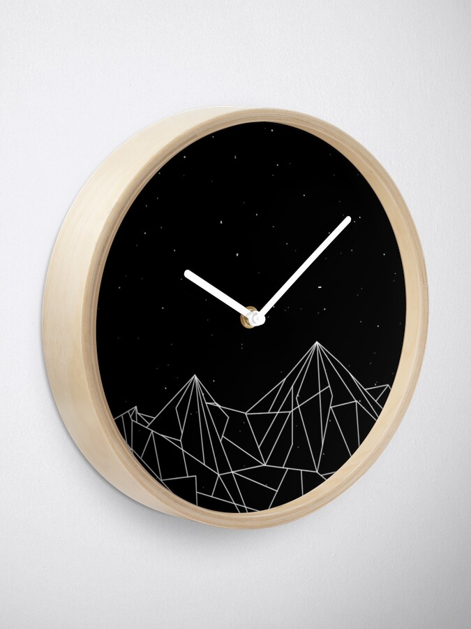 Alternate view of Night Court Mountains - Black (OLD VERSION) Clock