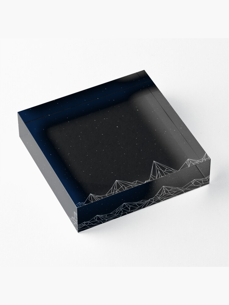 Alternate view of Night Court Mountains - Black (OLD VERSION) Acrylic Block