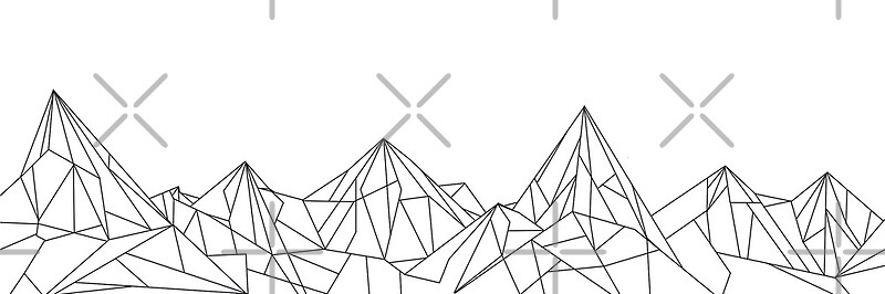 db461f4ac5f Night Court Mountains - White | Art Print