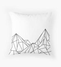 Night Court Mountains - White Throw Pillow
