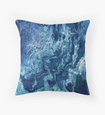 Blueberry Ripple Throw Pillow
