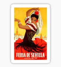 Spain 1959 Seville April Fair Poster Sticker