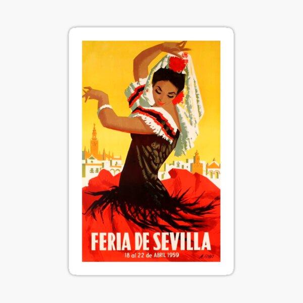 Cartel de feria de abril de 1959 de España 1959 Pegatina
