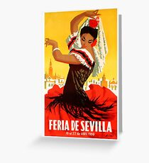 Spain 1959 Seville April Fair Poster Greeting Card