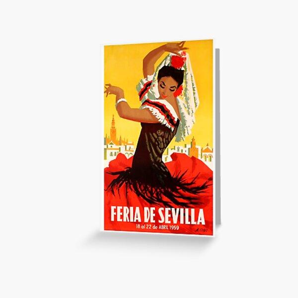 Spain 1959 Seville April Fair Poster Greeting Card