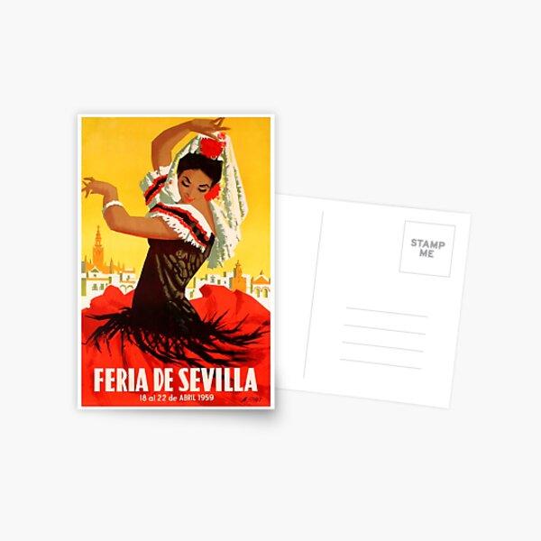 Cartel de feria de abril de 1959 de España 1959 Postal