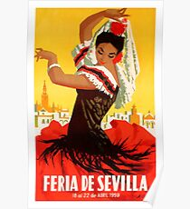 Spain 1959 Seville April Fair Poster Poster