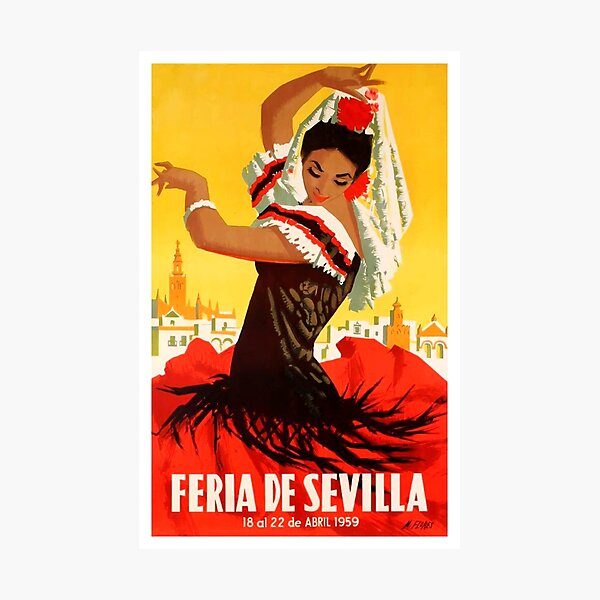 Spain 1959 Seville April Fair Poster Photographic Print