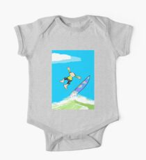 Surfer loses balance and takes a leap One Piece - Short Sleeve