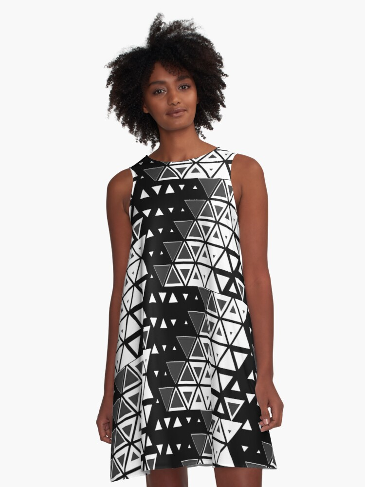 Triangles 3 A-Line Dress Front