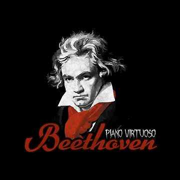Beethoven piano virtuoso (black) by TICS