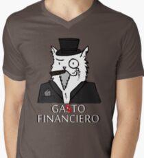Gato financiero Men's V-Neck T-Shirt