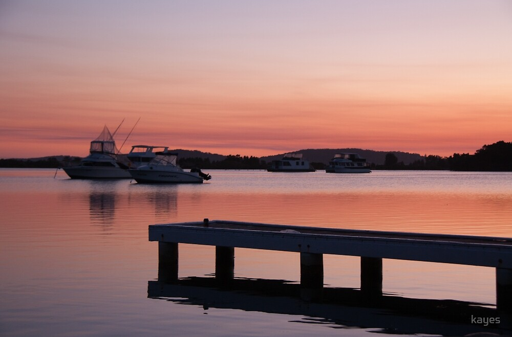 Sunset Lake Macquarie by Kaye Stewart