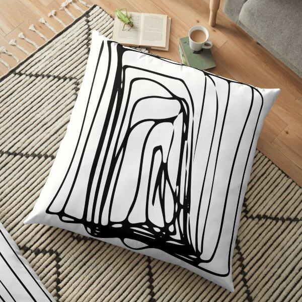 Stroke Black, Brush, Hand ,Written  Floor Pillow