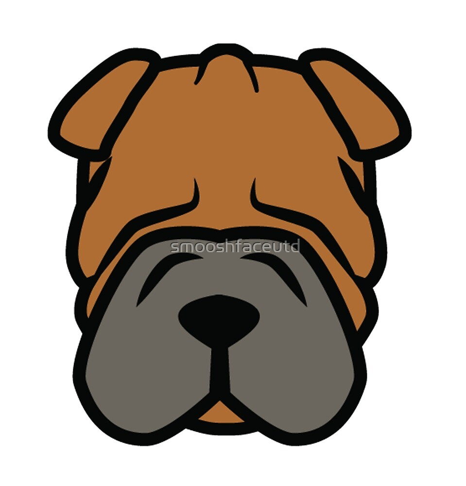 Wrinkly Shar Pei face by smooshfaceutd