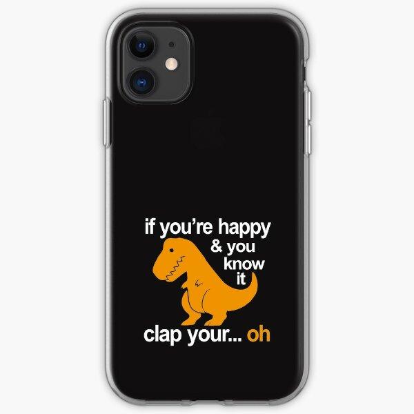 T-Rex clap your hands iPhone Soft Case