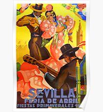 Spanien 1949 Sevilla April Fair Poster Poster