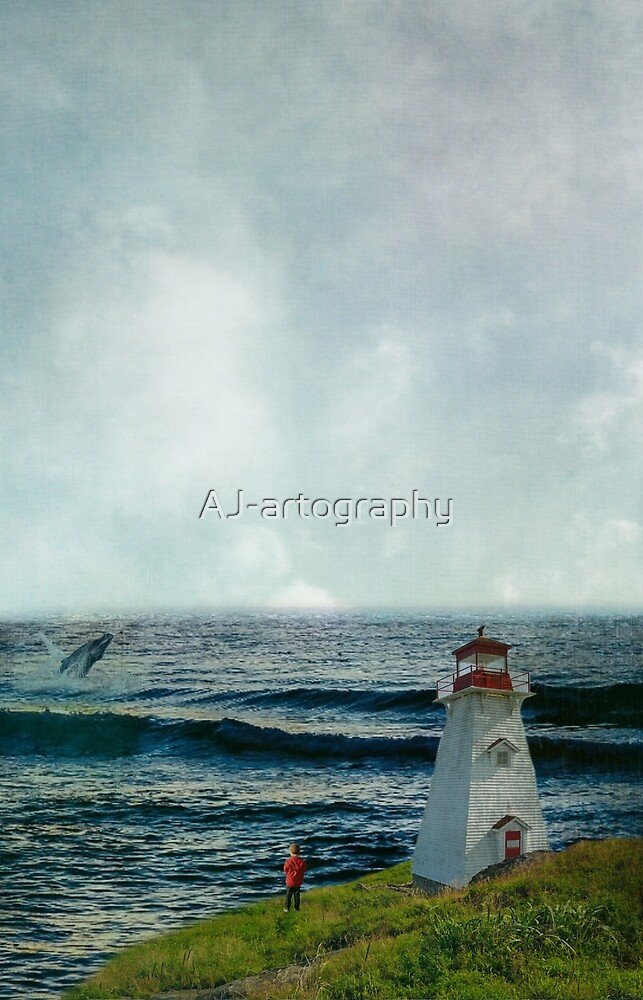 boy whale watching  by AJ-artography