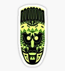 African Mask Green Sticker