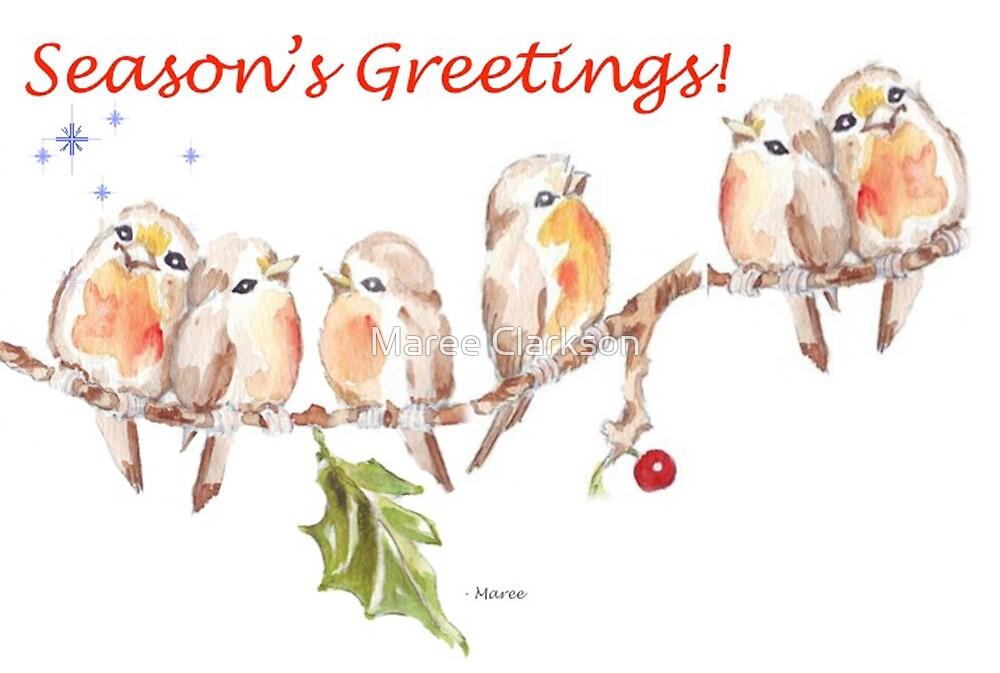 6 Little Birds - Season's Greetings! by Maree Clarkson
