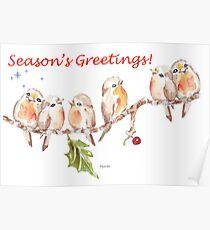 6 Little Birds - Season's Greetings! Poster