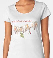 6 Little Birds - Season's Greetings! Women's Premium T-Shirt