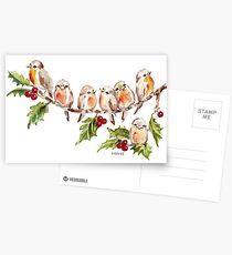 Seven Little Birds Postcards
