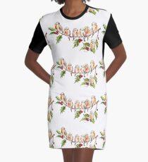 Seven Little Birds Graphic T-Shirt Dress
