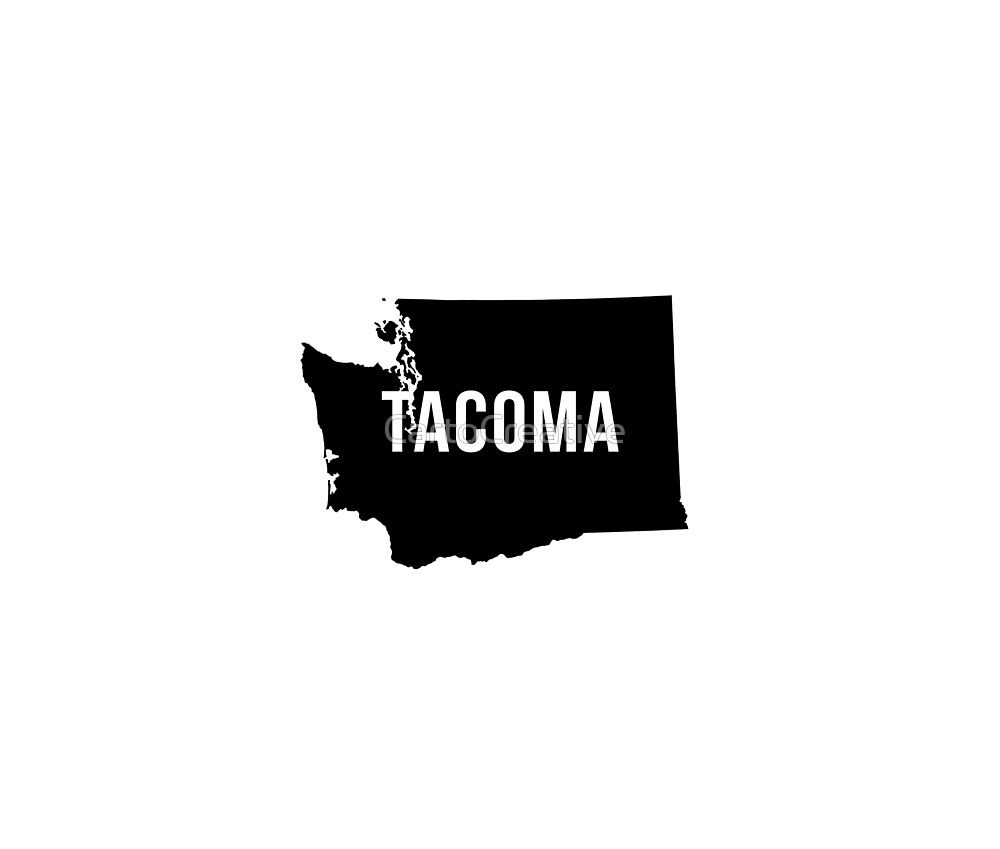 Tacoma, Washington Silhouette by CartoCreative
