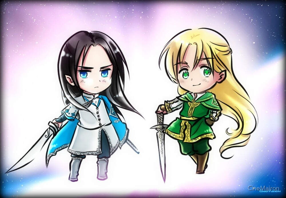 Chibi Ecthelion and Glorfindel by CineMairon